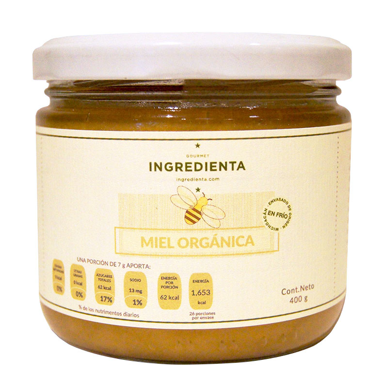 Miel Mantequilla Orgánica, 400g