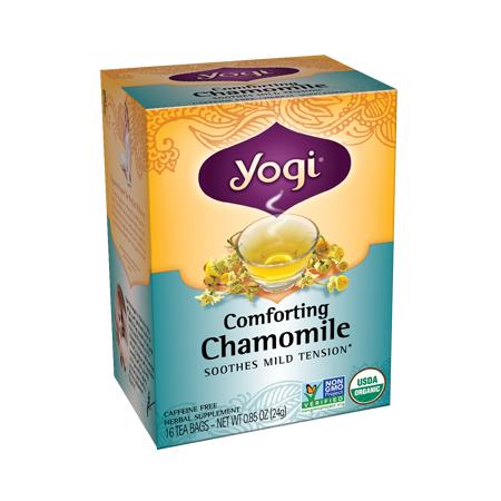 Yogi Tea Manzanilla Orgánica Reconfortante Libre de Cafeína, 24g