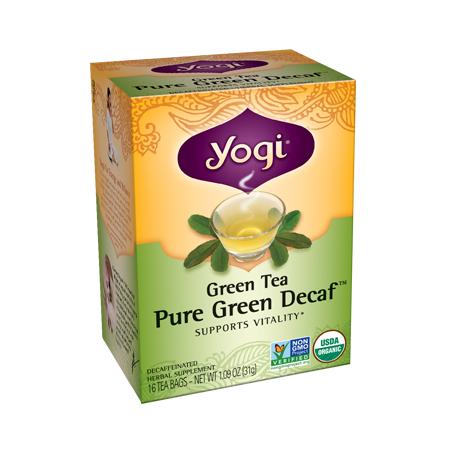 Yogi Tea, Té Verde Puro Orgánico, Descafeinado, 31g