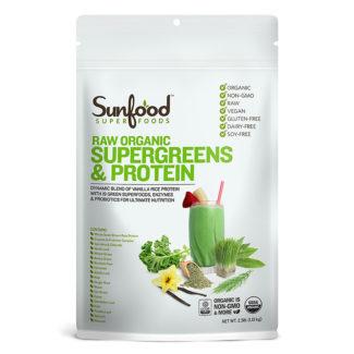 Proteína de arroz con Super Greens