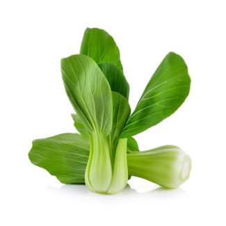 Bok choy vegetable isolated on a white background