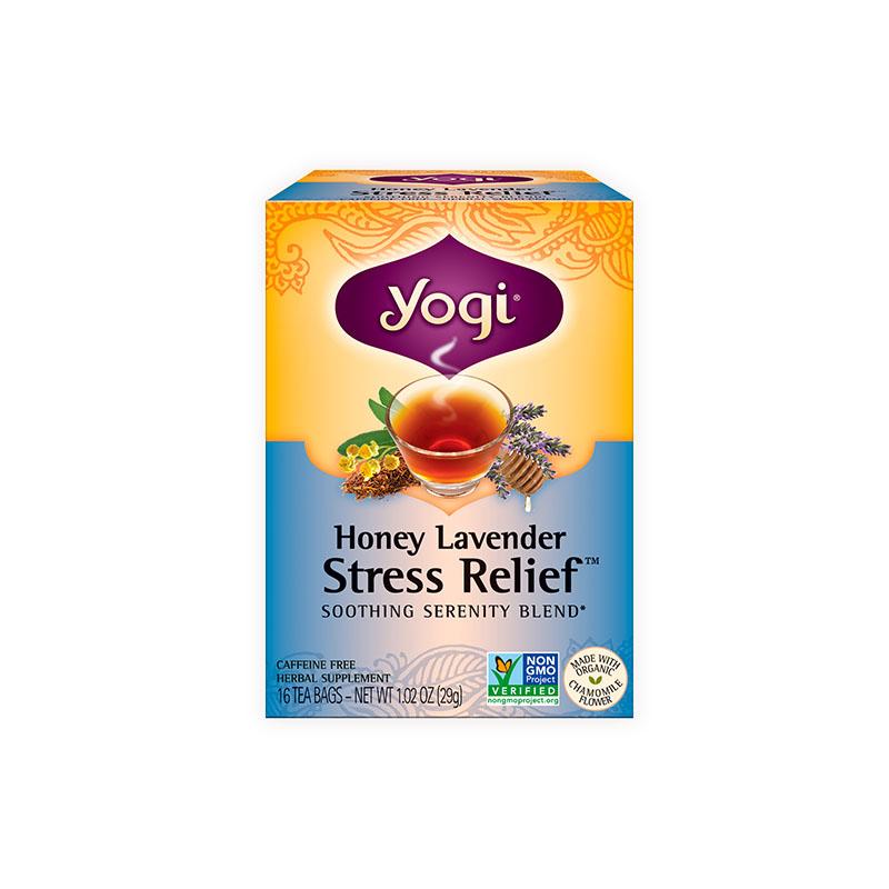 Yogi Tea, Té de Miel Lavanda, Alivio del Estrés, sin cafeína, 29g