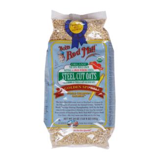 Bob´s Red Mill, Avena Corte Acero, Orgánica, Cereal Natural