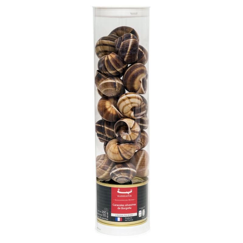 Caracoles Silvestres de Borgoña con Concha, 2 docenas, 200g