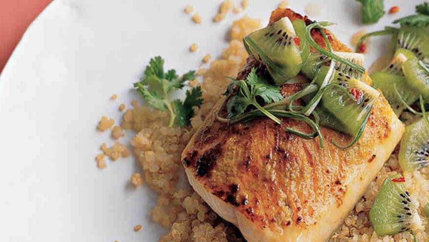 Bacalao Negro con Quinoa y salsa de Kiwi