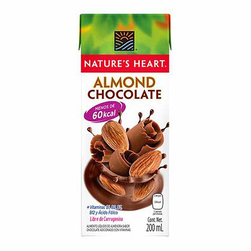 Leche de Almendra y Chocolate Nature's Heart, 200ml