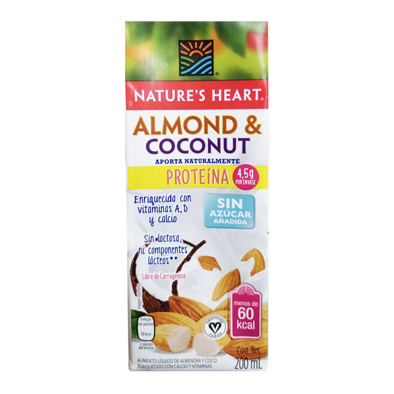 Leche de Almendras y Coco Nature's Heart, 200ml