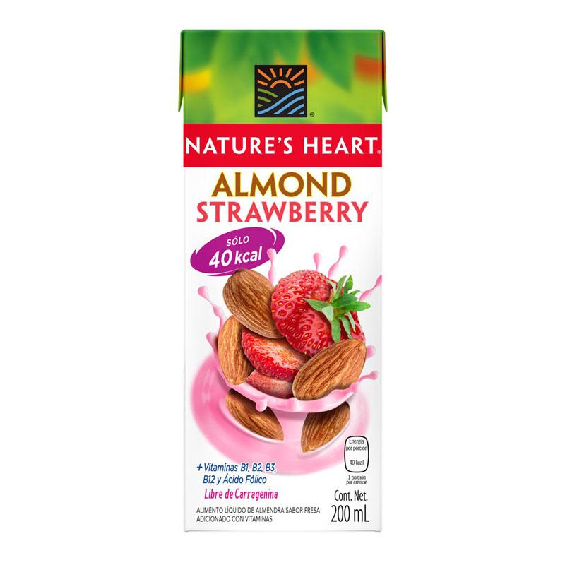 Leche de Almendras y Fresa Nature's Heart, 200ml