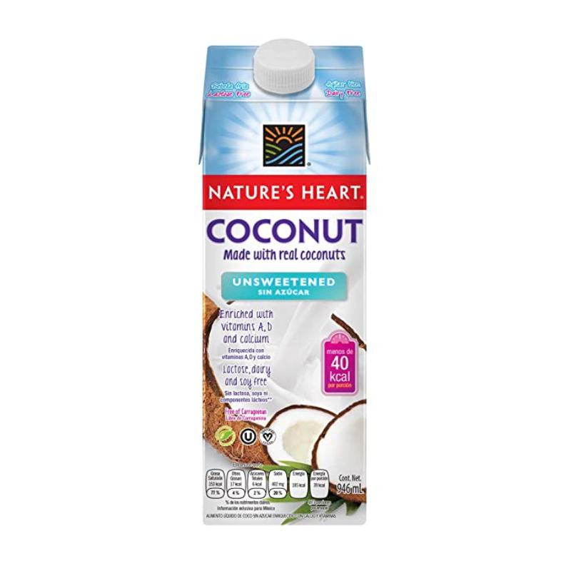 Bebida de Coco sin Azúcar Nature´s Heart, 946ml