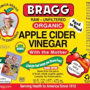Vinagre de Manzana Bragg (con la madre), 473ml
