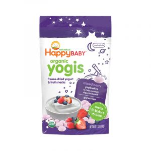 Happy Baby Yogis, Snacks de fruta y yogurt, 28g