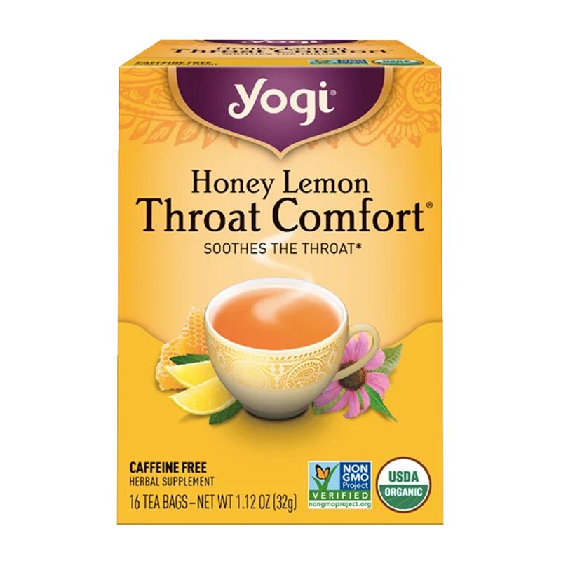 Yogi Tea Miel y Limón, Alivio para la Garganta, 32g
