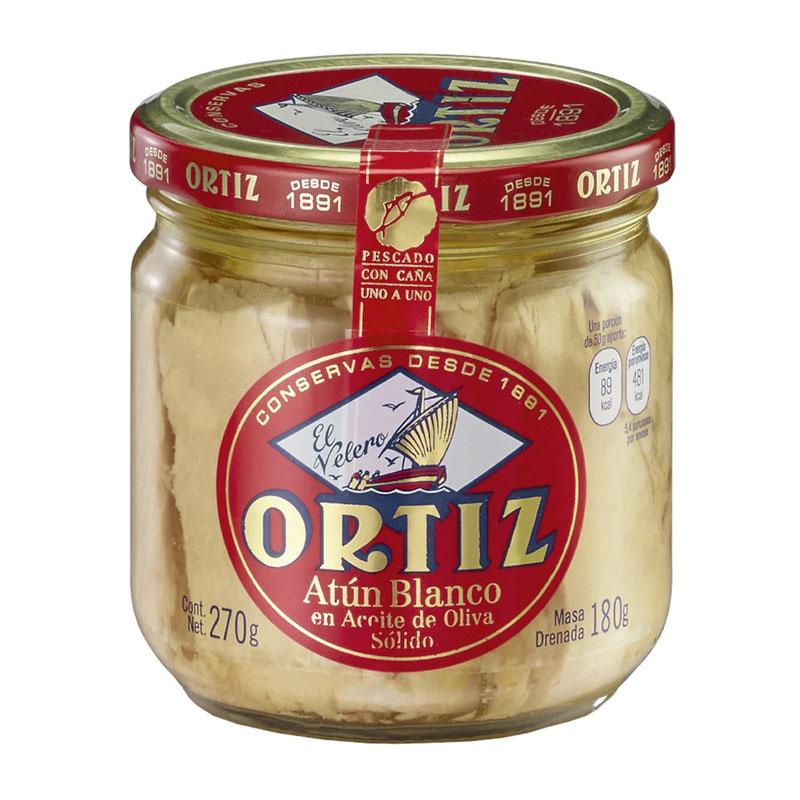 Atún Blanco en Aceite de Oliva Ortiz, 270g