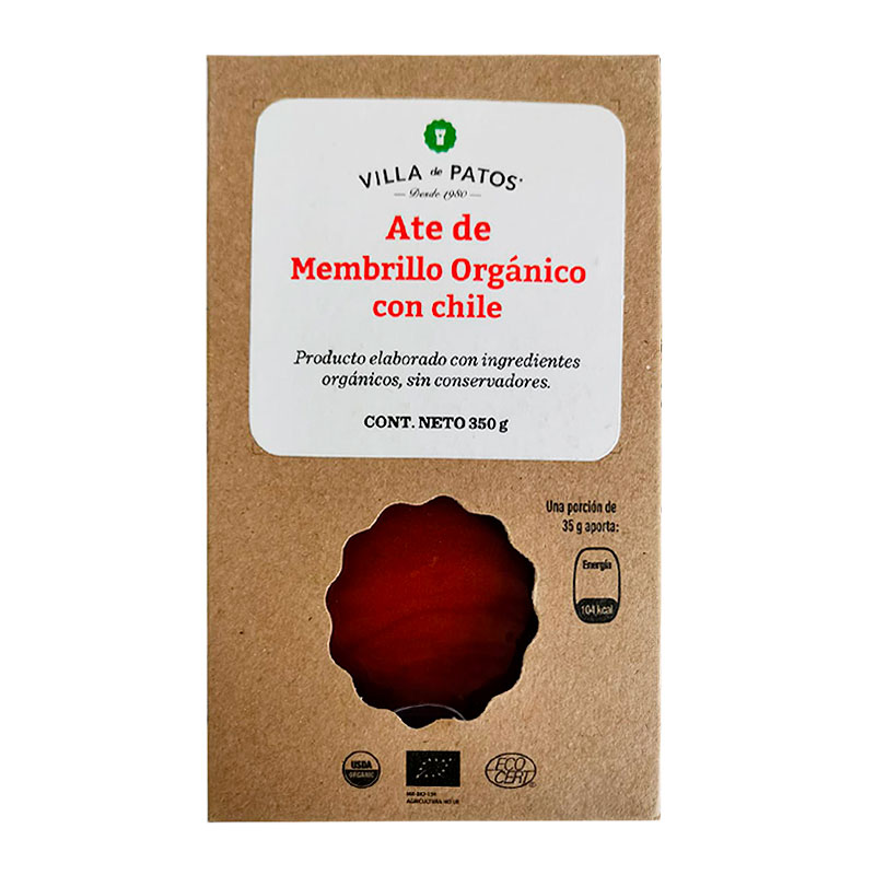 Ate de Membrillo Orgánico con Chile, 350g
